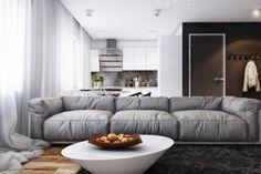 Дизайн проект двухкомнатной квартиры 61 кв. м. от студии «Артек»