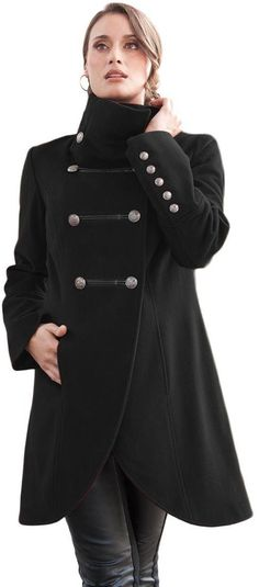 Jessica London Women's Plus Size Coat In Military Style