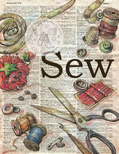 Sew on Unabridged, Vintage Dictionary - prints available for purchase at www.etsy.com/shop/flyingshoes - flying shoes art studio
