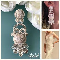 Veronique Creazioni Soutache Necklace, Tassel Earrings, Drop Earrings, Boho Jewelry, Wedding Jewelry, Jewellery, Earring Trends, Beaded Embroidery, Jewels