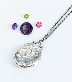 Large Birks Oval Sterling Silver Locket Necklace - Hand Chased Vine Design Vintage - Photo Pendant by VintageBejeweled on Etsy https://www.etsy.com/listing/496513946/large-birks-oval-sterling-silver-locket