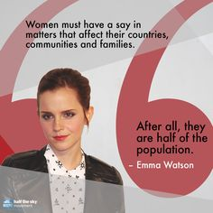 On her first country visit as UN Women's Goodwill Ambassador, British actress Emma Watson highlighted the need for women's political participation in Uruguay.