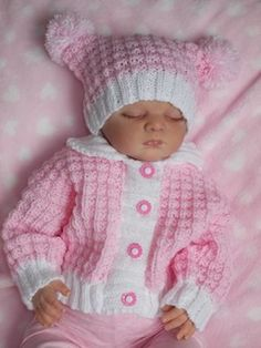 Knitting Patterns – All Items Page 2 – Baby Dream Knits – Knitting Baby İdeas. Baby Cardigan Knitting Pattern Free, Knitting Baby Girl, Baby Sweater Patterns, Knit Baby Sweaters, Baby Knitting Patterns, Baby Patterns, Knitting Dolls Clothes, Knitted Baby Clothes, Baby Doll Clothes