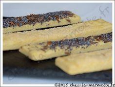 Biscuits apéritifs au parmesan et aux graines