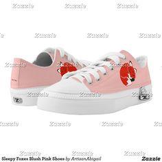 Sleepy Foxes Blush Pink Shoes; ArtisanAbigail at Zazzle