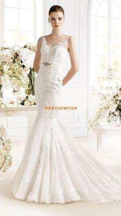 Jaro 2014 Krajka Empírové Svatební šaty 2014