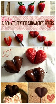 Easy chocolate strawberry hearts you pinspire me passion fruit chocolate truffles Valentines Day Food, Valentines Healthy Snacks, Köstliche Desserts, Holiday Desserts, Chocolates, Kreative Desserts, Strawberry Hearts, Chocolate Covered Strawberries, Dessert For Dinner