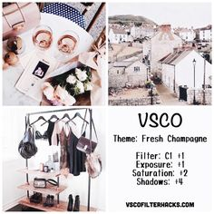 Fresh Champagne Instagram Feed Using VSCO Filter C1