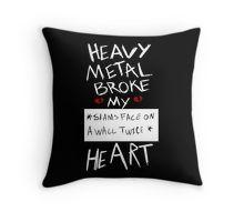 Fall Out Boy Centuries - Heavy Metal Broke My Heart Throw Pillow