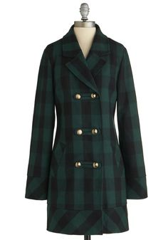 Back to Cool Coat. This item was picked by you in our Be the Buyer Program and will be sold exclusively online at ModCloth! #green #modcloth