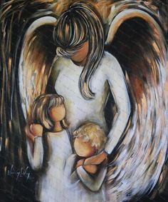 Angel with Children. www.sipsnstrokes.com