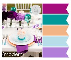 3 Creative Ways to Add Color to Your Tables! http://www.theperfectpalette.com/2013/10/3-colorful-wedding-centerpieces.html