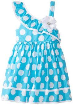 Youngland Little Girls' Polka Dot Print One Shoulder Dress, Blue, 4T Youngland http://www.amazon.com/dp/B00JGMJPGS/ref=cm_sw_r_pi_dp_0CIjub0M5GHZX