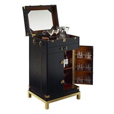 One Fifth Trunk Bar - Servers / Consoles - Furniture - Products - Ralph Lauren Home - RalphLaurenHome.com
