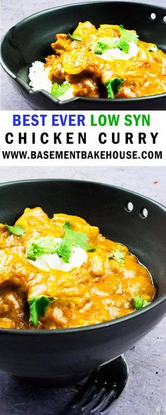 This silky smooth low syn chicken curry recipe is the best there is! With a thick creamy sauce you'd never believe it was only 4 syns per portion! The perfect Fakeaway recipe for weeknight meals or at the weekend! It's even epic as a meal prep recipe. Chicken Curry Slimming World, Slimming World Chicken Recipes, Slimming World Recipes Syn Free, Slimming World Fakeaway, Slimming World Dinners, Slimming Eats, Healthy Curry Recipe, Healthy Recipes, Healthy Chicken Curry