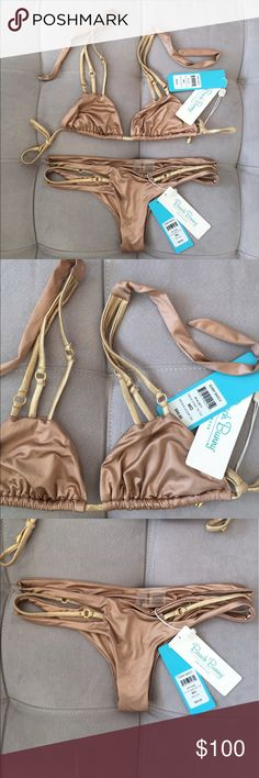 Beach Bunny bikini Beautiful Beach Bunny bikini. New with Tag. Top size M. Bottom size M. Beach Bunny Swim Bikinis
