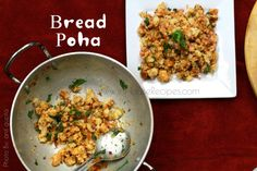 12 minute Bread Poha breakfast snack recipe with curd and plain bread available at home. Use brown bread to make it healthy with Onion and Tomato paste. Tea Time Snacks, Breakfast Snacks, Breakfast Ideas, Poha Recipe, Curd Recipe, Snack Recipes, Cooking Recipes, Bread Ingredients, Snack Video