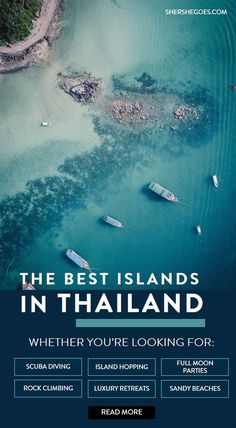 a guide to the thai islands on both the andaman and gulf coasts - koh tao, koh samui, ko pha ngan, hua hin, ko lanta, railay, ko phi phi, khao lak and more. read this travel guide for when to go and where to go among thailand's islands. #thailand #island #asia