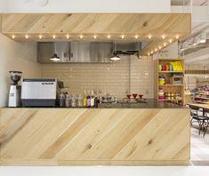 hutte Cafe Interior Design, Cafe Design, Interior Architecture, Coffee Shop Counter, Cafe Counter, Commercial Design, Commercial Interiors, Restaurant Design, Restaurant Bar
