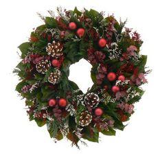 Joyful Pinecones Dried Floral Wreath