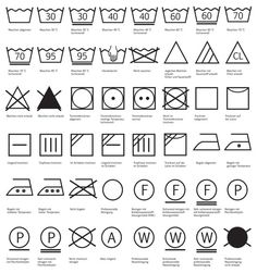 Waschsymbole und ihre Bedeutung - brottbacken Washing symbols and their meaning Schuler Cabinets, Laundry Symbols, Symbols And Meanings, Textiles, Home Hacks, Housekeeping, Good To Know, Cleaning Hacks, Meant To Be