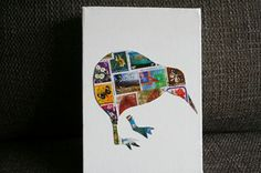 "Kiwiana - Stamp Art ""New Zealand"""