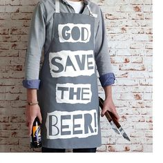 God Save The Beer Apron
