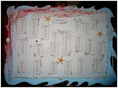 "Table Plan ""Creatures of the sea"" 02"