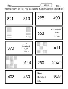 In this free worksheet, students must compare and order cute ...