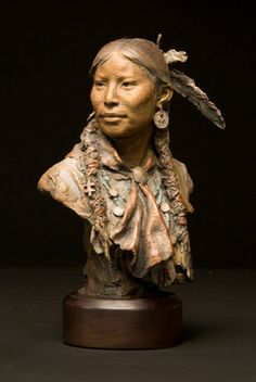 Coleman Studios - Western Art by John Coleman, Cowboy Artist: Bronze, Oil, Charcoal Sculpture Head, Sculptures Céramiques, Wood Sculpture, Small Sculptures, Native American Pottery, Native American Artists, Native American Indians, Artist Bio, American Indian Art