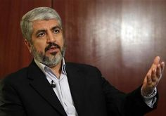 """Hamas political bureau chief """"Jerusalem intifada"""" will continue until """"Palestinians achieve freedom and the land returns to Palestine and its people.""""  Hamas is """"not extremist"""" but """"moderate"""" according to their own media. Khaled Mashaal. Photo By: REUTERS"""