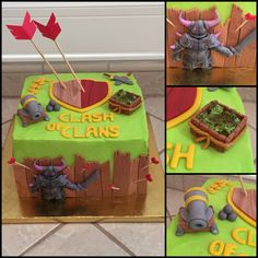 Clash of Clans Cake by Amber's Little Cupcakery