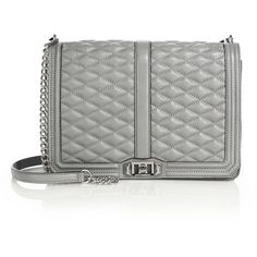Rebecca Minkoff Quilted Love Jumbo Leather Crossbody Bag (1.070 RON) ❤ liked on Polyvore featuring bags, handbags, shoulder bags, apparel & accessories, charcoal, leather cross body purse, crossbody purse, crossbody shoulder bags, leather purse e crossbody handbags