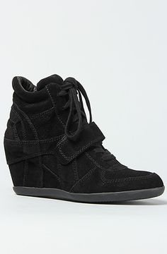 buying these! asap <3 The Bowie Bis Sneaker in Black Suede by Ash Shoes