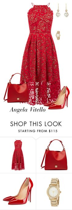 """""""Untitled #726"""" by angela-vitello on Polyvore featuring Warehouse, Mulberry, Christian Louboutin, DKNY and Effy Jewelry"""