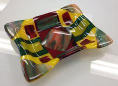 Fused Glass - Deep tray --Glassateria