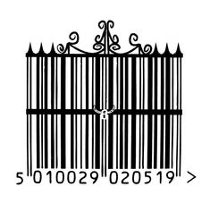 barcode art wrought iron gate by frost-rot on DeviantArt