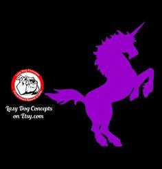 Unicorn Decal for Car Window Locker Laptop and by LazyDogConcepts #unicorn #unicorns #unicorndecal #leggings #decal #cute #etsy #etsyseller #mythical