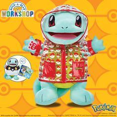 Add Squirtle to your Pokémon team! With its advantage of swimming at high speeds, this Water-type Pokémon is an absolute must-have for any Pokémon Trainer. With exclusive outfits and sounds that are only available online, this complete set will delight Pokémon fans of all ages!