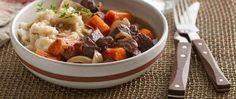Cooking the beef in the slow cooker yields tender meat that is packed with flavor! Make it a meal by serving this stew with Betty Crocker™ mashed potatoes.