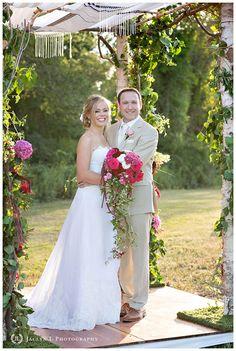 Rustic New England Wedding Cascading Bouquets, Cascade Bouquet, Chuppah, Tent Wedding, Bridesmaid Dresses, Wedding Dresses, Rustic Charm, New England, Florals