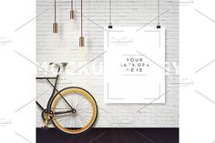 8x10 Hanging Paper Hipster Mockup by mockupology on @creativemarket