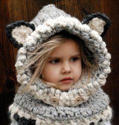 Crochet Wolf Baby Cowl Pattern | 101 Crochet