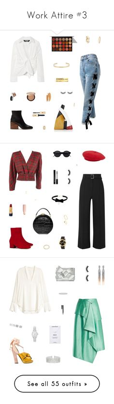 """Work Attire #3"" by belenloperfido ❤ liked on Polyvore featuring Amaranta, Gabriela Hearst, Jacquemus, Sans Souci, Yves Saint Laurent, Inglot, Too Faced Cosmetics, Puma, Battington and Jennifer Fisher"