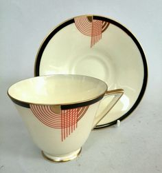 Royal Doulton, Tango, Tea Cup and Saucer. Art Deco. Perfect Condition. in Pottery, Porcelain & Glass, Porcelain/ China, Royal Doulton | eBay