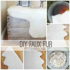 DIY Faux Fur Rug City Farmhouse