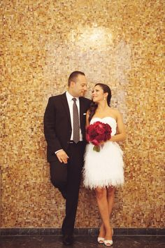 Very cute courthouse wedding