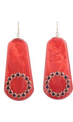 Mark Davis Pink Bakelite & Amethyst Earrings