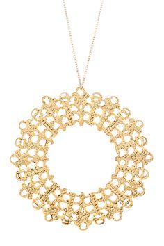 Lace Circle Pendant Necklace