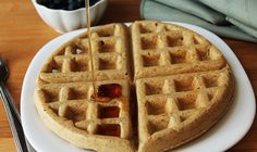 Look no further, this recipe for easy vegan gluten free waffles is what you've been looking for! Crispy on the outside and soft and fluffy inside. YUM!
